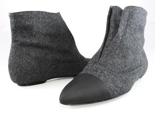 Calvin Klein Flat Oxford Ankle Pointed Toe Stone/Black Boots Image 9