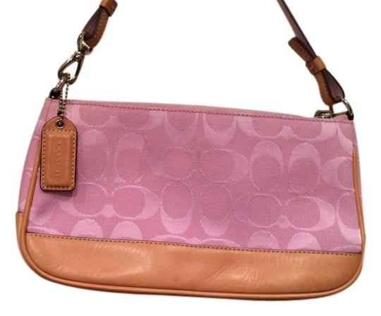 Preload https://item2.tradesy.com/images/coach-pink-cloth-and-leather-satchel-1434696-0-0.jpg?width=440&height=440