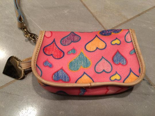 Dooney & Bourke Wristlet in Pink/Multi color