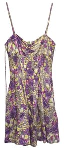 Free People short dress Purple and yellow on Tradesy