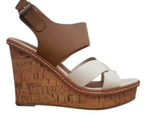 Mossimo Supply Co. Summer White, Tan/Brown Wedges