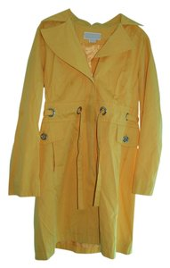 Michael Kors Trench Water-repellant Yellow Jacket