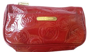 Michael Kors Michael Kors Red Patent Leather Cosmetic Bag