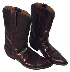 Lucchese Oxblood/black cherry color Boots