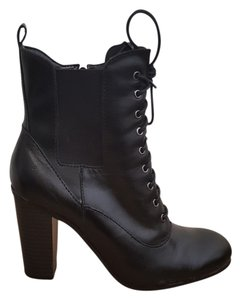 Liz Claiborne Boot Bootie Lace Up Black Boots