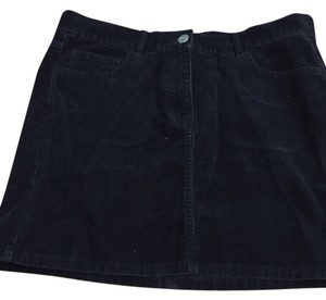 French Connection Mini Skirt Black corduroy