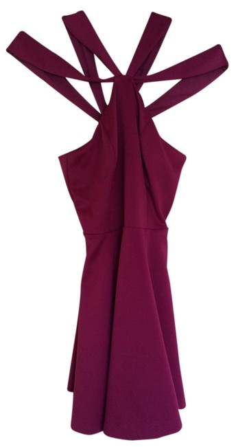 Preload https://img-static.tradesy.com/item/14347765/guess-by-marciano-wine-above-knee-cocktail-dress-size-4-s-0-2-650-650.jpg