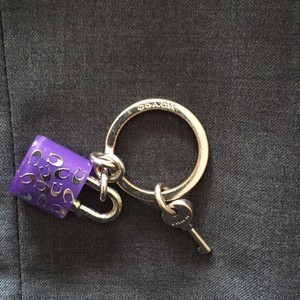 Coach Purple Lock Keychain