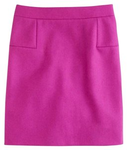 J.Crew Mini Purple Mini Skirt Ivory