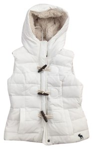 Abercrombie & Fitch Puffy Sherpa Puffer Winter Puffy Puffer Winter Wear Sherpa Lined Toggle Vest