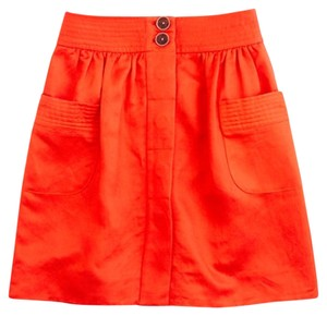 J.Crew Mini Skirt Poppy