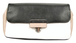 Marc Jacobs Leather Mj Black, white, and tan Clutch