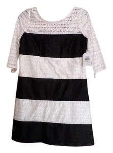 Jessica Simpson short dress Black and Ivory on Tradesy