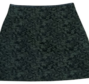 Zara Mini Skirt Green and black