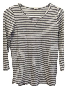 J.Crew T Shirt Ivory and grey