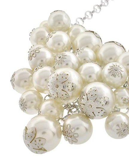 Other White Synthetic Pearl Necklace & Earring Set