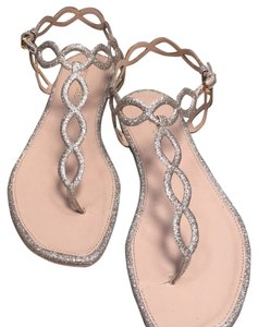 Sergio Rossi Nude/ gold Sandals