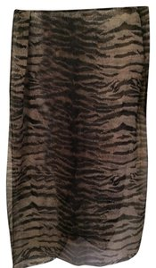 City Silk brown multi print scarf