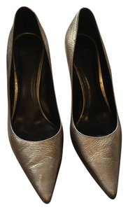 Burberry Leather Gold Pumps