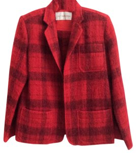 Liz Claiborne Vintage Red Buffalo Check Red, Black Jacket