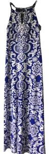 Blue multi Maxi Dress by INC International Concepts
