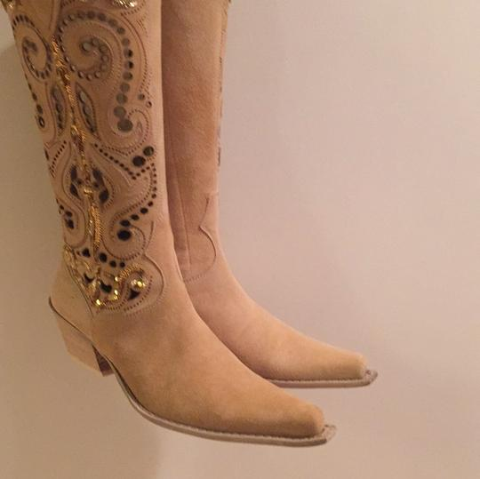 Ripa Calzatture Hand Made in Ilaly Camel Boots Image 4