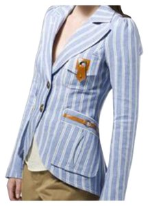 Smythe Bellows Pocket Sky Blue and White Blazer