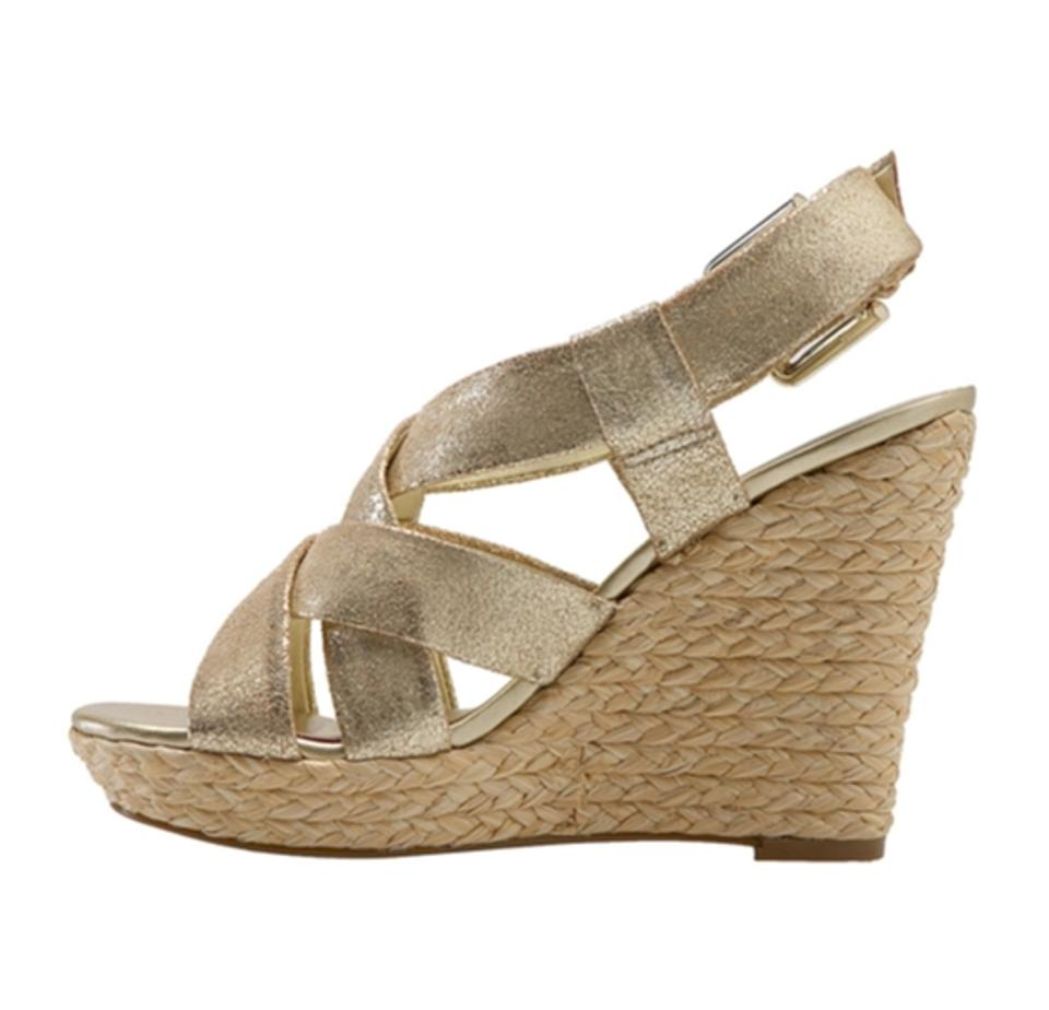 a11cafcb8 Jessica Simpson Gold Espadrille Wedges Size US 8 Regular (M, B ...