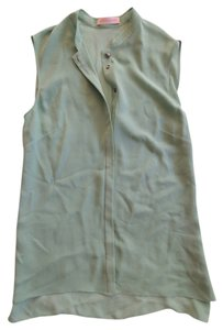 Matthew Williamson Silk Sleeveless Top Mint