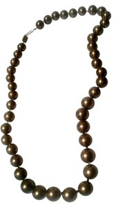 Brown Sea Shell Pearl Necklace 8mm Pearls 18 Inch J424