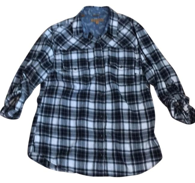 Jach's Girlfriend Button Down Shirt Black/white Image 0