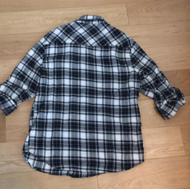 Jach's Girlfriend Button Down Shirt Black/white Image 1