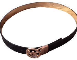 MICHAEL Michael Kors Mk Reversible Leather Belt Blk/Gold