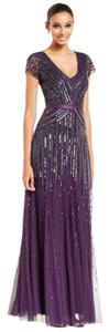 Adrianna Papell Beaded Amethyst Dress