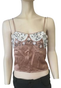 Dior Beaded Top beige/ivory
