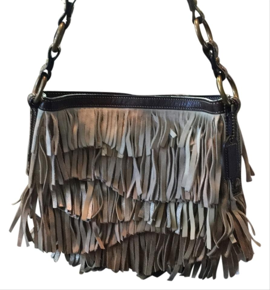 Coach No F06s-9155 Tan Gold Suede Fringe Hobo Bag - Tradesy 4993f5f85bbb6