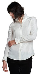 Jigsaw Button Down Shirt Ivory
