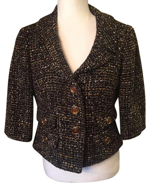 Preload https://img-static.tradesy.com/item/14351236/ann-taylor-loft-blackwhiteyellow-tweed-updated-blazer-size-8-m-0-1-650-650.jpg