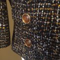 Ann Taylor LOFT Black/White/Yellow Tweed Blazer Image 3