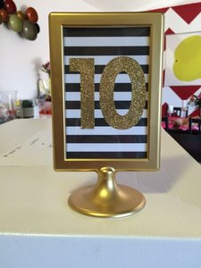 Black White And Gold Table Numbers 1-20