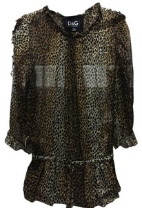 Dolce&Gabbana Flowy Top Animal Print