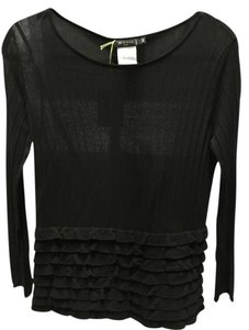 Etro Ruffle Scoop Neck Light Sweater