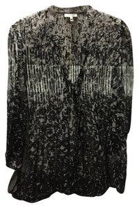 Joie Flowy Light Spring Top Black/Grey