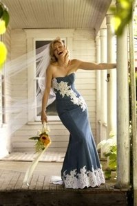 Victoria Glenn Denim Wedding Dress