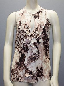 Parker Silk Top Multi-Color, Taupe, Brown, Beige, Neutral