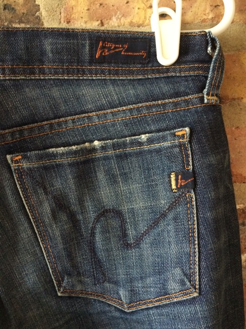 Citizens of Humanity Boot Cut Jeans-Dark Rinse Image 2