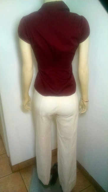 Banana Republic P965 Button Down Size 2 Top burgundy