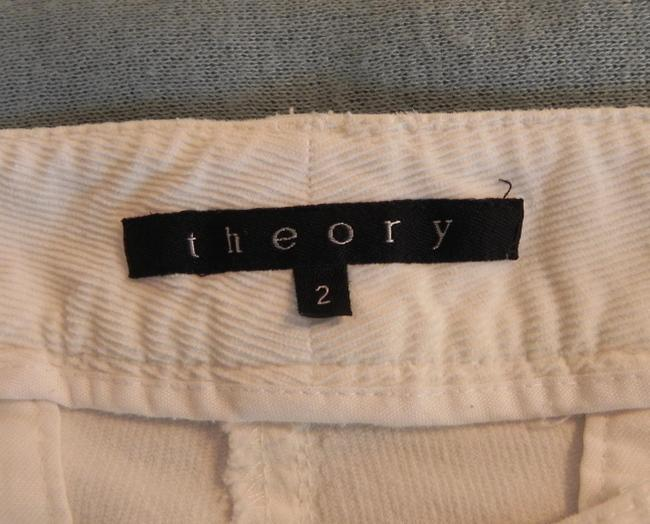 Theory Stretchy Capris White