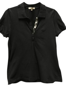 Burberry London Polo T-shirt Casual Sporty T Shirt Black - item med img