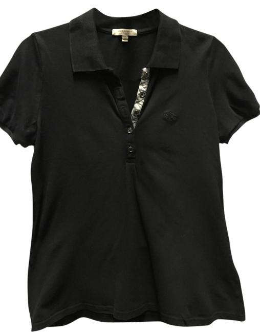 Burberry London Polo T-shirt Casual Sporty T Shirt Black Image 0